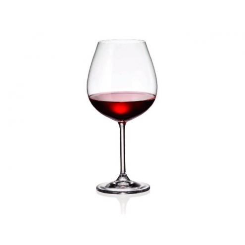 Juego 6 Copas Vino Bohemia